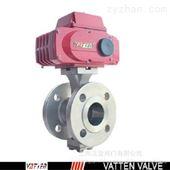 VT2IEF33A电动砂浆V型球阀 过粘稠介质阀门 钛合金V阀