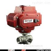 VT2DEN33A三通排水换向T型不锈钢气动螺纹球阀