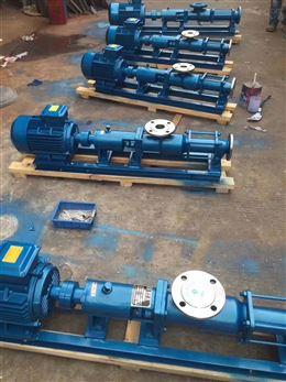 G螺杆卧式高粘度转子泵 304材质G型单防爆泵