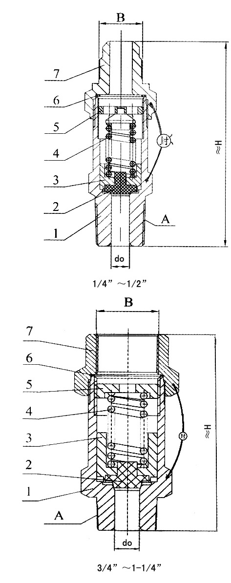BA22C300T冷冻机安全阀结构图
