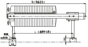 450/630/800型液压自动压紧压滤机_厢式/板框式压滤机管口结构示意图4